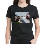 Creation/Rottweiler Women's Dark T-Shirt