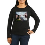 Creation/Rottweiler Women's Long Sleeve Dark T-Shi