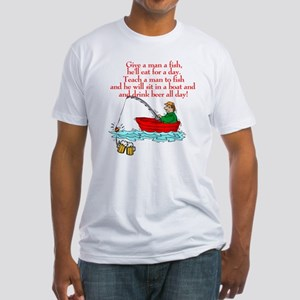 Teach A Man To Fish Fitted T-Shirt