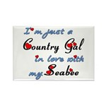 Country Gal Seabee Love Rectangle Magnet