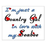 Country Gal Seabee Love Small Poster