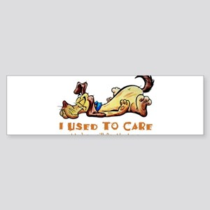 I Used to Care Bumper Sticker