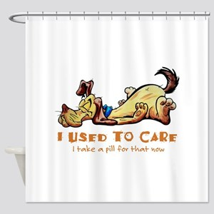 I Used to Care Shower Curtain