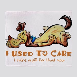 I Used to Care Throw Blanket