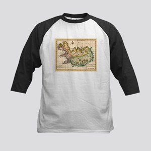 Vintage Map of Iceland (1756) Baseball Jersey