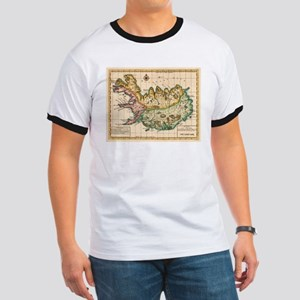 Vintage Map of Iceland (1756) T-Shirt
