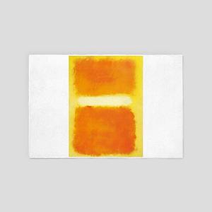 ROTHKO ORANGE AND WHITE LIGHT 4' x 6' Rug