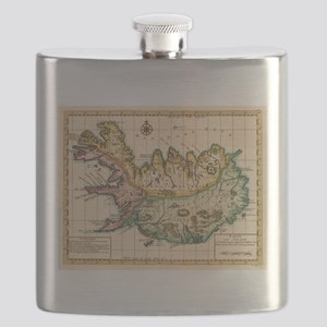 Vintage Map of Iceland (1756) Flask