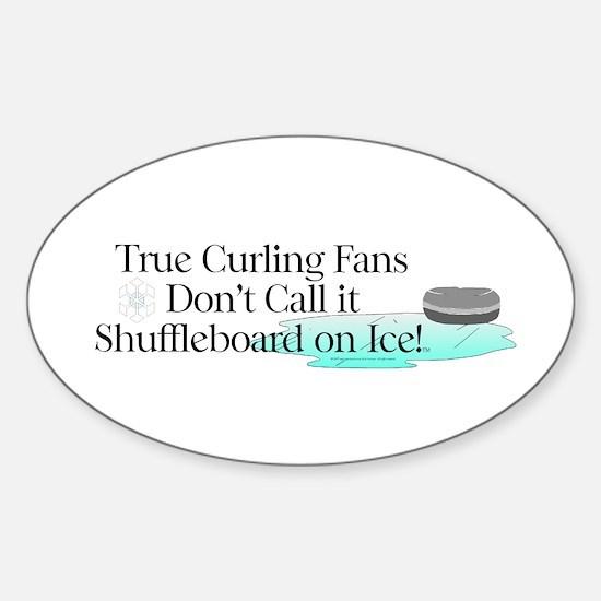 Curling Slogan Sticker (Oval 10 pk)
