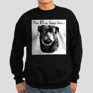 Rottweiler Happy Face Sweatshirt