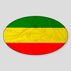 Wrinkled Rastafarian Flag Sticker