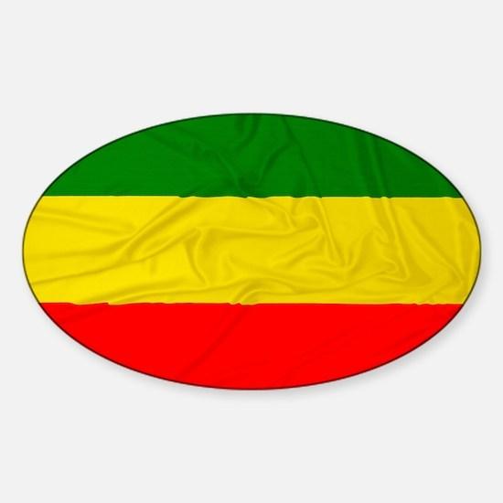 Wrinkled Rastafarian Flag Decal