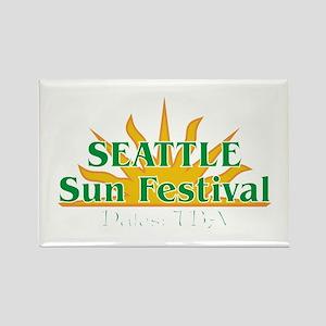 Seattle Sun Festival Rectangle Magnet