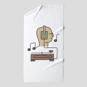 Sound System Beach Towel