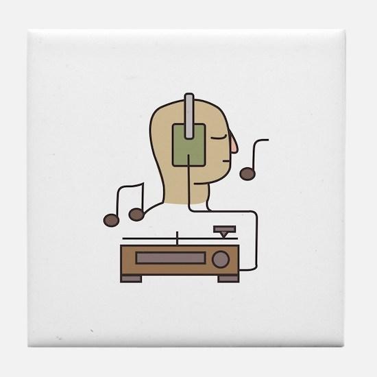 Sound System Tile Coaster