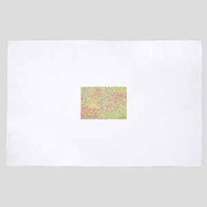Abstract Pastel Rainbow Flower Field 4' x 6' Rug