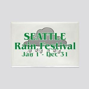 Seattle Rain Festival Rectangle Magnet