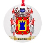 Santillan Round Ornament