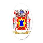 Santillan Oval Car Magnet