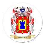 Santillan Round Car Magnet