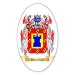 Santillan Sticker (Oval 50 pk)