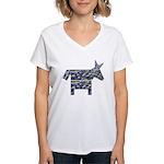 Texas Blue Donkey Women's V-Neck T-Shirt