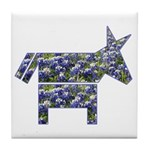 Texas Blue Donkey Tile Coaster