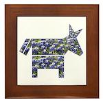Texas Blue Donkey Framed Tile