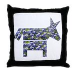 Texas Blue Donkey Throw Pillow