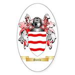 Santa Sticker (Oval 10 pk)