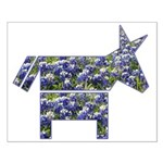 Texas Blue Donkey Small Poster