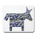 Texas Blue Donkey Mousepad