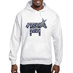 Texas Blue Donkey Hooded Sweatshirt