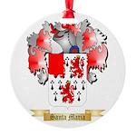 Santa Maria Round Ornament