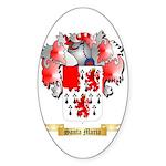 Santa Maria Sticker (Oval 10 pk)
