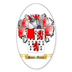 Santa Maria Sticker (Oval 50 pk)