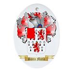 Santa Maria Oval Ornament