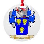 Sans Round Ornament