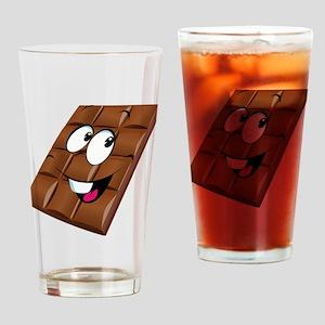 Chocolate emoticons Drinking Glass