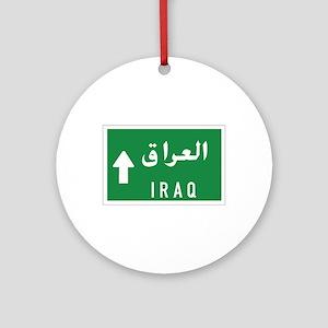 Iraq roadmarker, Iraq Ornament (Round)