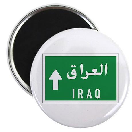 """Iraq roadmarker, Iraq 2.25"""" Magnet (100 pack)"""