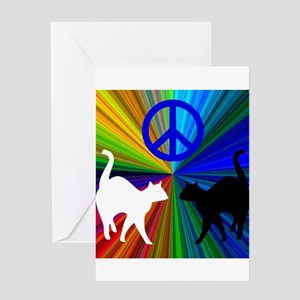 PEACE CATS Greeting Card