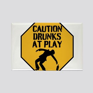 CAUTION DRUNKS AT PLAY Magnets