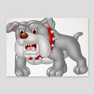 Cartoon pitbull 5'x7'Area Rug