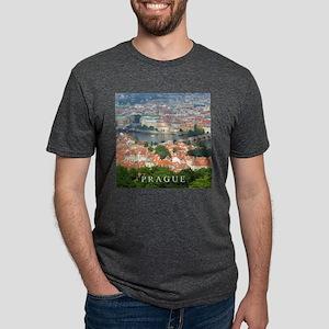 Prague Charles Bridge over Vltava river T-Shirt