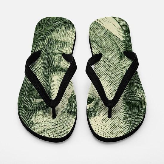 Unique Benjamin franklin Flip Flops