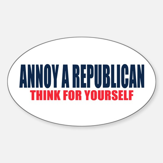 Annoy a Republican Decal