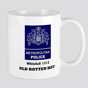 METROPOLITAN POLICE - OLD ROTTEN HAT - WHITEH Mugs
