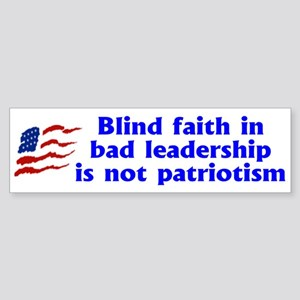 BLIND FAITH Bumper Sticker
