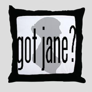 "bennetgirls Jane Austen ""got jane?"" Throw Pillow"